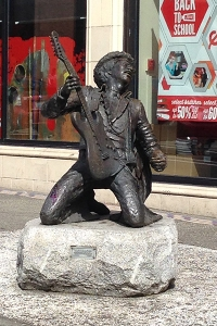 Statue of Jimi Hendrix, unveiled in 1997